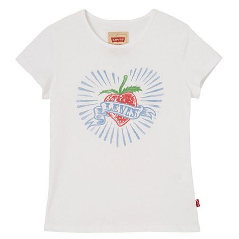 White Strawberry Tshirt, ${color}