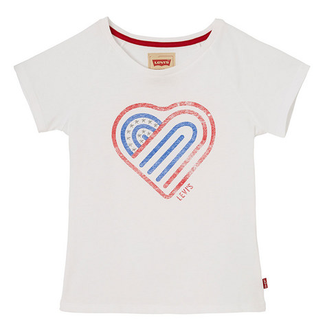 White Heart Tshirt, ${color}
