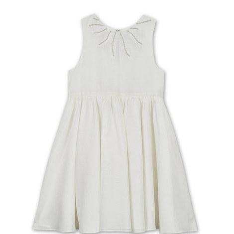 Feather Embellished Dress Kids, ${color}