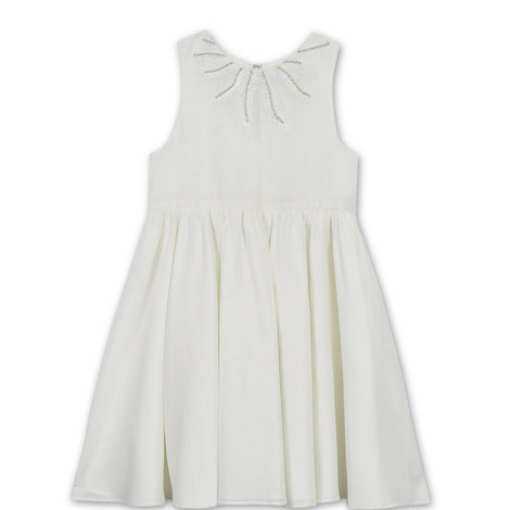 Feather Embellished Dress Kids, ${color}