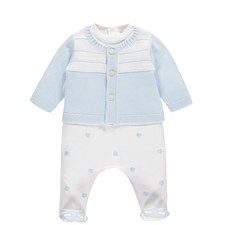 Lionel Romper and Cardigan Set Baby