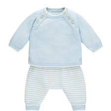 Knit Sweater and Romper Baby