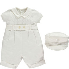 Gerald Romper and Hat Set Baby