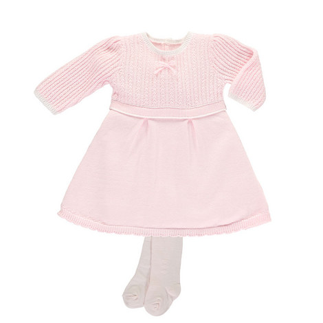 Loralie Knitted Dress and Tights Set Baby, ${color}