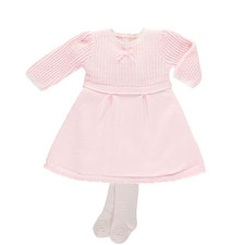 Loralie Knitted Dress and Tights Set Baby