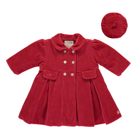 Lucinda Velour Coat and Hat Baby, ${color}