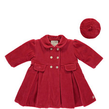 Lucinda Velour Coat and Hat Baby