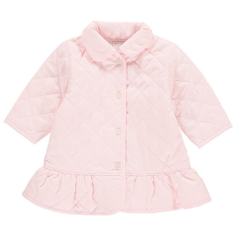 Mary Quilted Frill Coat Baby, ${color}