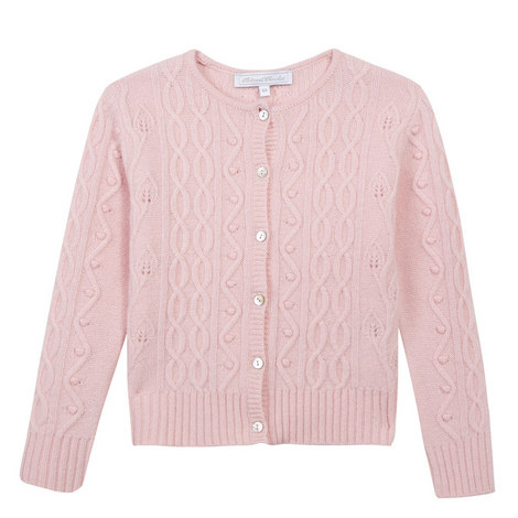 Textured Knit Cardigan Teens, ${color}