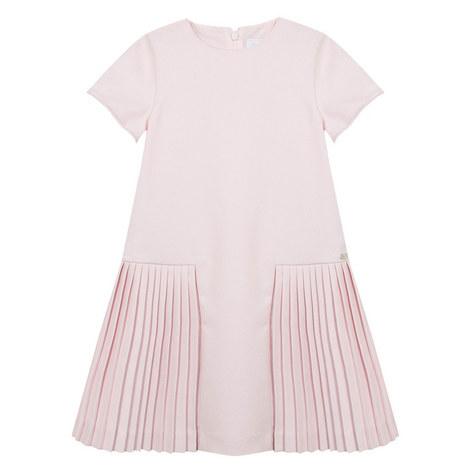 Pleated Drop Waist Dress Teens, ${color}