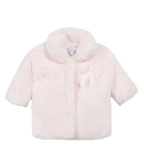 Faux Fur Bow Coat Baby, ${color}