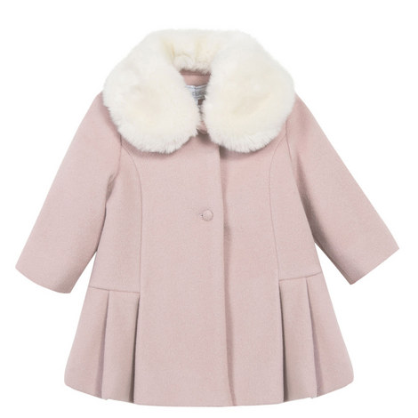 Faux Fur Collar Coat Baby, ${color}