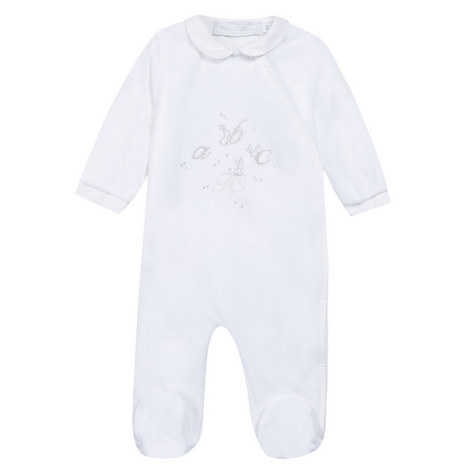 Collar Embroidered Sleepsuit Baby, ${color}