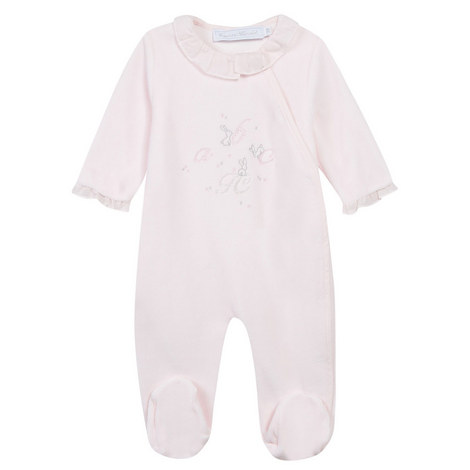 Ruffled Collar Embroidered Sleepsuit Baby, ${color}
