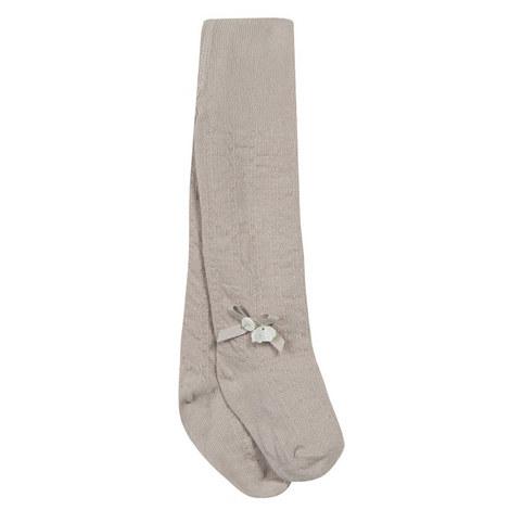 Bow Appliqué Knit Tights, ${color}