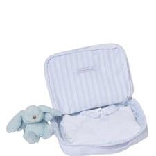 Striped Trim Sleepsuit and Teddy Baby