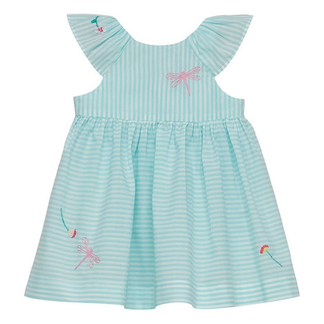 Striped Babydoll Dress Baby, ${color}