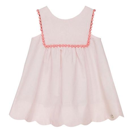 Bobble Trim Babydoll Dress Bay, ${color}