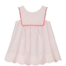 Bobble Trim Babydoll Dress Bay