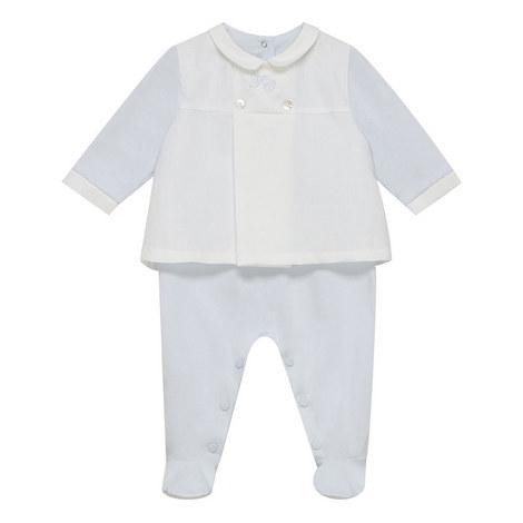 Linen Mix Romper Baby, ${color}