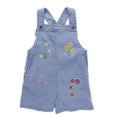Edith Embroidered Dungaree Shorts Kids