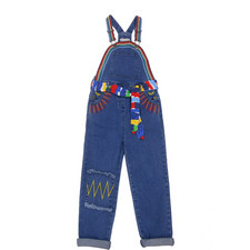 Ruthie Embroidered Dungarees Kids