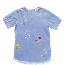 Bess Embroidered Denim Dress Kids