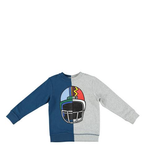 Biz Helmet Print Sweatshirt Teens, ${color}