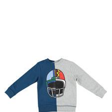 Biz Helmet Print Sweatshirt Teens