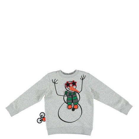 Biz Snowman Appliqué Sweatshirt Kids, ${color}