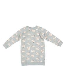 Leona Swans Sweatshirt Dress Kids