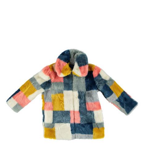 Abbie Colour Block Coat Kids, ${color}