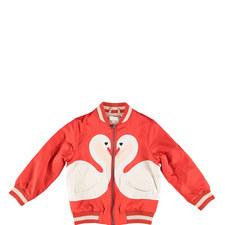 Willow Swan Zipped Bomber Jacket Kids