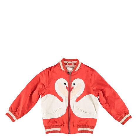 Willow Swan Zipped Bomber Jacket Teens, ${color}
