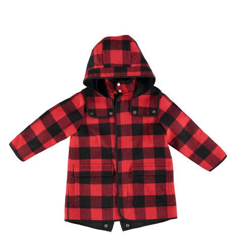 Beet Check Winter Coat Teens, ${color}