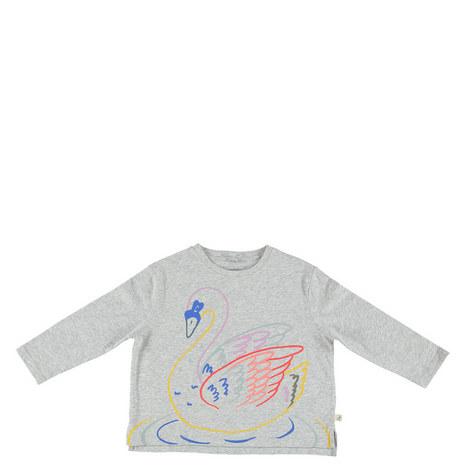 Farah Swan Print T-Shirt Teens, ${color}