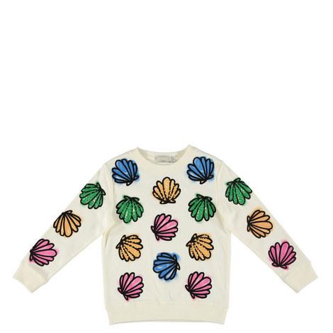 Betty Sequin Shells Sweatshirt Kids, ${color}