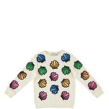 Betty Sequin Shells Sweatshirt Kids