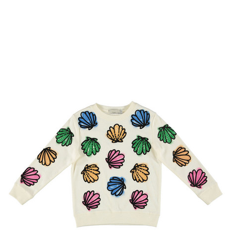 Betty Sequin Shells Sweatshirt Teens, ${color}