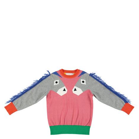 Lucky Donkey Intarsia Knit Kids, ${color}