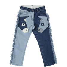 Lohan Fringed Patch Denims