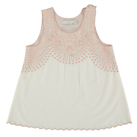 Adriana Embroidered Cotton Top Kids, ${color}