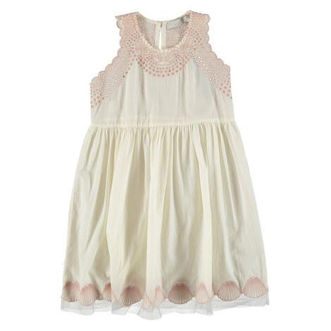 Bay Seashell Embroidered Dress Teens, ${color}