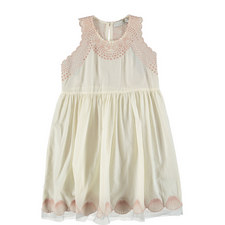 Bay Seashell Embroidered Dress Teens