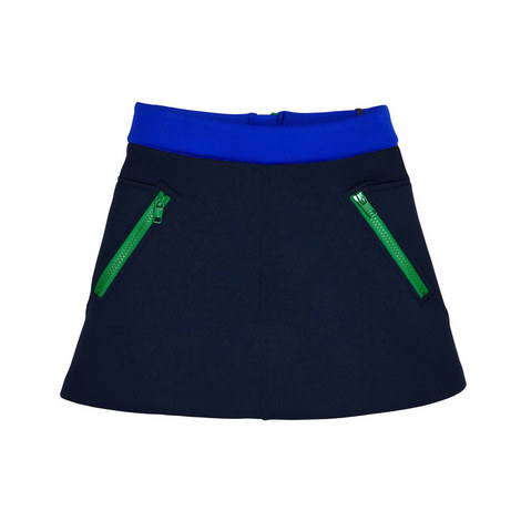 Neoprene Contrast Zip Skirt Toddler, ${color}