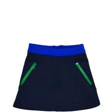 Neoprene Contrast Zip Skirt Toddler