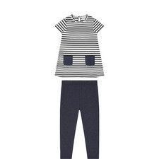 Stripe Dress and Leggings Set Kids