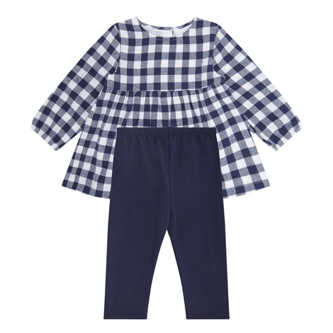 2-Piece Check Top and Leggings Set Baby, ${color}