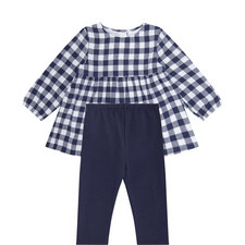 2-Piece Check Top and Leggings Set Baby