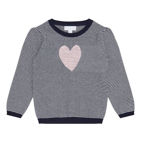 Stripe Heart Sweater Toddler, ${color}